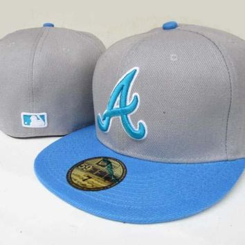 Atlanta Braves New Era MLB Authentic Collection 59FIFTY Cap Grey-Blue
