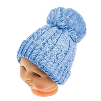 Winter Boys Girls Twist Pattern Hat Knitted Pom Pom Cap For Kids Bonnet Rabbit Fur Ball Beanie Children Hairy PomPom Hat Touca
