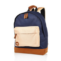 River Island MensNavy Mipac color block backpack