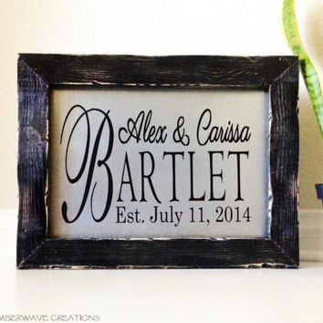Personalized Wedding Sign Wedding or Anniversary Gift Personalized Last Name Sign