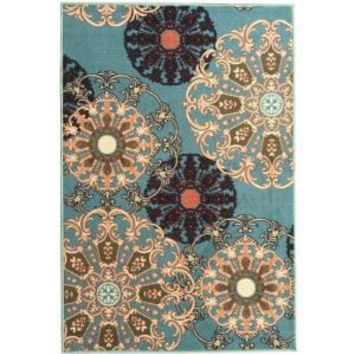 Ottomanson Ottohome Collection Contemporary Damask Design Sage Green 1 ft. 8 in. x 4 ft. 11 in. Rug Runner OTH2265-20X59 at The Home Depot - Mobile