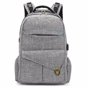 High Quality Nappy Diaper Bag Backpack With USB Charging Port Lightweight Waterproof Maternity Mummy Bag Baby Stroller Bag