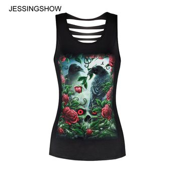 New Style 3D Printed Rose Bird Tops Harajuku Sleeveless Hip Hop T Shirts Fitness Women Punk style Vest Casual Camisole Tank Top