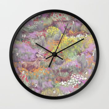 Life in Death Valley Wall Clock by Ben Geiger