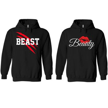 New Beast and Beauty Black Hoodie