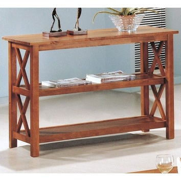 Best brown console table products on wanelo for B q living room shelves