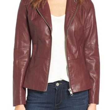 KUT from the Kloth Faux Leather Moto Jacket | Nordstrom