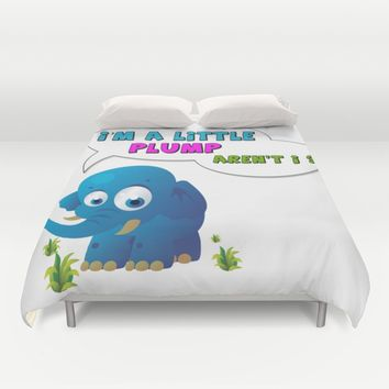 Plump Elephant Duvet Cover by FoX ArT