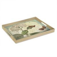 'Botanique Blue' Printed Serving Tray