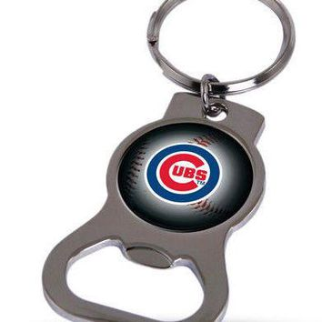 MLB Chicago Cubs Bottle Opener Keychain FREE SHIPPING!