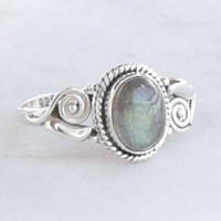 Labradorite Stone Ring Sterling Silver Ring Labradorite  stone Ring Size US 5 6 7 8 9 10 11 12 Gift Idea, Girlfriend gift Ring, Gift For Her