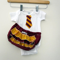 $23.50 Hogwarts Gryffindor Student Costume  ruffle or plain by RaeGun