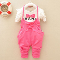 Pink Baby Cotton Overalls