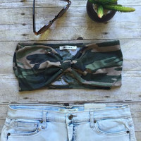 Camouflage Bow Top