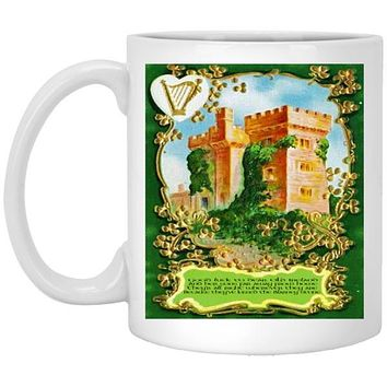 Irish Gifts Mug, Vintage 1900's Irish Art and Irish Quote, 11 or 15 oz Ceramic Coffee Cup