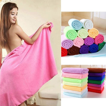 70x140cm Absorbent Microfiber Drying Bath Beach Towel Washcloth Shower = 1929952452