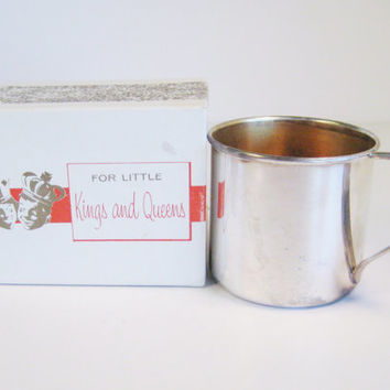 Vintage For Little Kings and Queens Sterling Over Copper Childs Mug