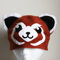 pabu  Fire ferret Legend of Korra Avatar Fleece Hat by AthenasWink