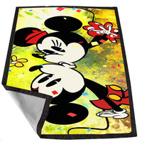 mickey mouse kiss 2 bb3a9ae2-10ab-481e-bca3-d2e58383912c for Kids Blanket, Fleece Blanket Cute and Awesome Blanket for your bedding, Blanket fleece *02*