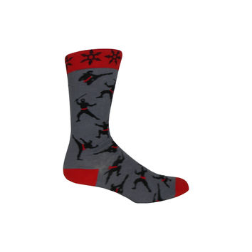 Ninjas Crew Socks in Gray