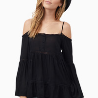 Three By Three Cold Shoulder Top