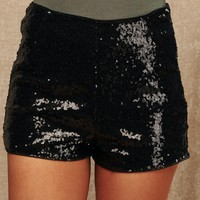 High Hope Sequin Shorts (Black)