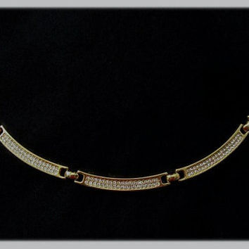 Authentic Christian Dior Vintage Crystal Choker Necklace
