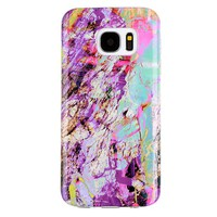 Electric Rainbow Marble Samsung Case