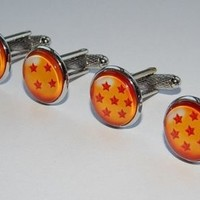 Dragonball cufflinks Dragonball jewelry Star Dragon Balls Video Game cufflinks
