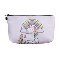Womens Change Coin unicorn Small Clutch Wallet Key Card Holder Pouch Handbag