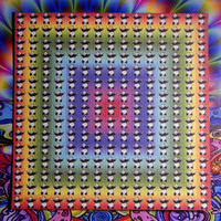 Psychedelic Blotter Art Print perforated sheet 15x15 - Panda Design