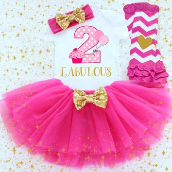 2nd Birthday Tutu Outfit- 2 fabulous