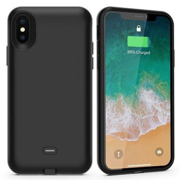 ESBON8C iPhone X Battery Case with Qi Wireless Charging,Support Lightning Headphone and Data Syncing,ALCLAP 3000mAh iPhone X wireless charging battery cover (5.8 inch) Portable Charger Case for iPhone X/10