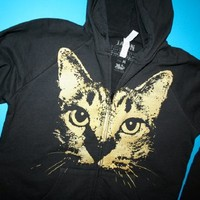 Supermarket: 1AEON NEW Golden Cat Zip Women's Hoodie - size L (sup) from  .1AEON.