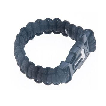 Paracord Survival Bracelet with Knife, Flint and Whistle, Blue