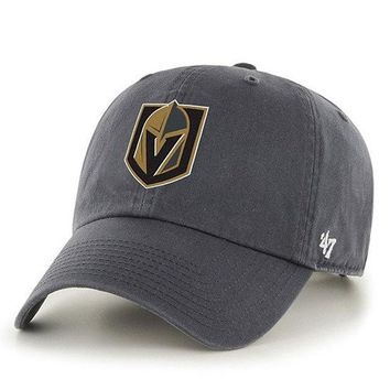 ONETOW Forty Seven Brand Vegas Golden Knight Clean Up Hat In Charcoal