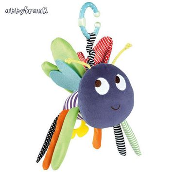 Abbyfrank Plush Bee Butterfly Baby Rattle Crib Pram Toys Hanging Hand Bell Bed Infant Baby Toys 0-12 Months Car Stoller Toys