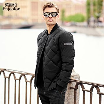new parka Cotton Padded Jacket coat Men stand collar Windproof black Thick Quilted fashion Coat
