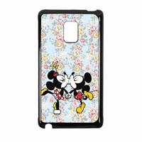 Mickey Kiss Minnie Disney Flowers Samsung Galaxy Note Edge Case