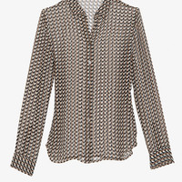 Equipment EXCLUSIVE Geometric Print Blouse-Just In-Clothing-Categories- IntermixOnline.com