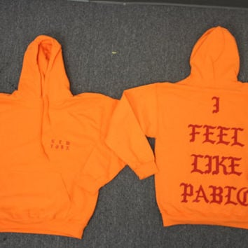 "Pablo ""I Feel Like Pablo"" Hoodie Meadows Kanye Pablo Merch"