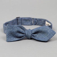 the hill side - bts 001   chambray bow tie indigo