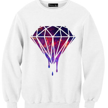 Galaxy Melted Diamond Sweatshirt | Yotta Kilo