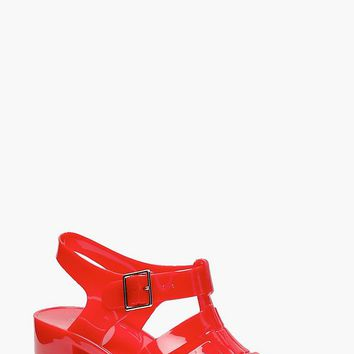 Hannah Heeled Jelly Sandals | Boohoo