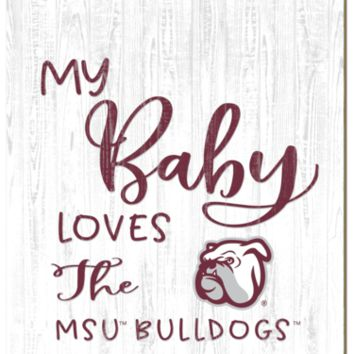 Mississippi State Bulldogs | My Baby Loves | Sign | Wood | Rope Hanger | NCAA
