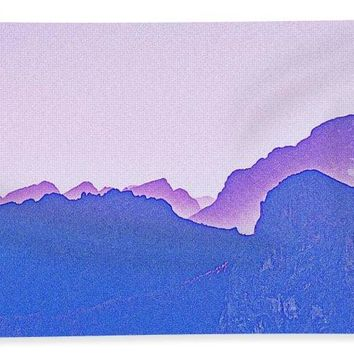 Purple Sunset Over Sierras By Adam Asar - Bath Towel