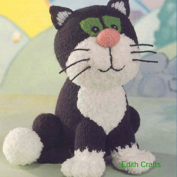 Knitting Pattern For Jess The Cat : Postman Pat knitting pattern PDF instant from EdithCrafts on Etsy