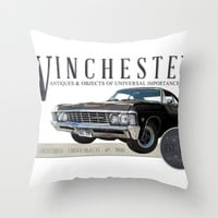 Supernatural : Winchester Antiques Throw Pillow by Fictional Chick