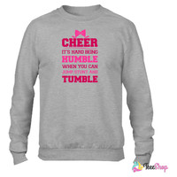 If Cheerleading Was Easy Crewneck sweatshirtt