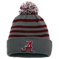 Alabama Crimson Tide Top of the World Youth Rock Cuffed Knit Hat with Pom – Gray